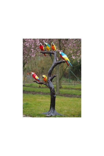 Tree with parrots