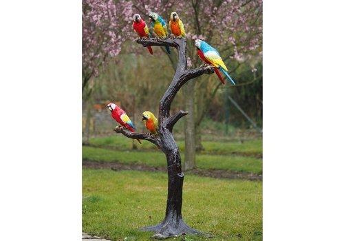 BronzArtes Baum mit Papageien