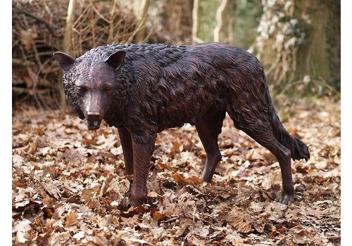 BronzArtes Staande wolf