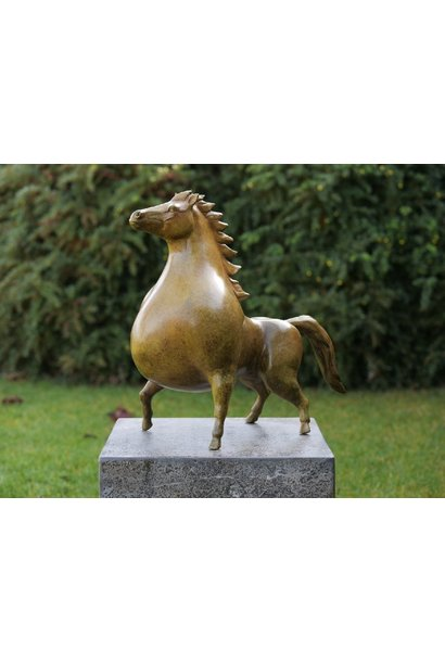 Paard groene hot patina