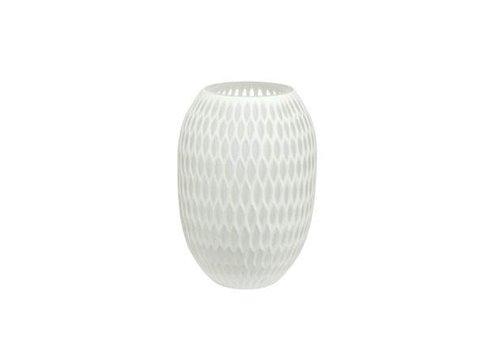 Accessoires Vase mittel weiß