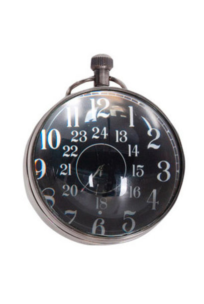 Eye of Time Clock, Silver