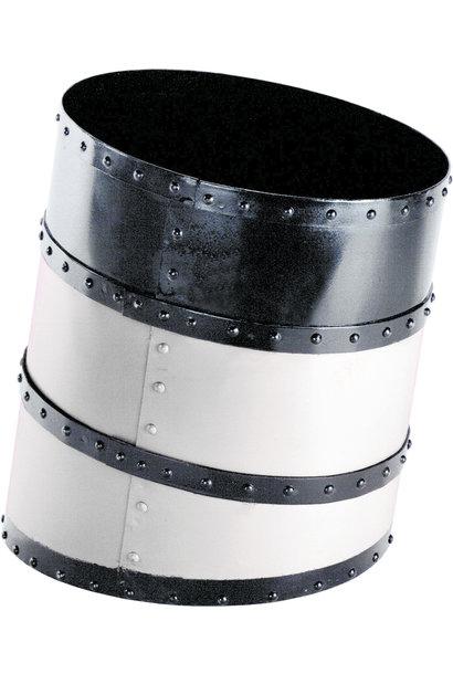 Funnel Waste Basket, White
