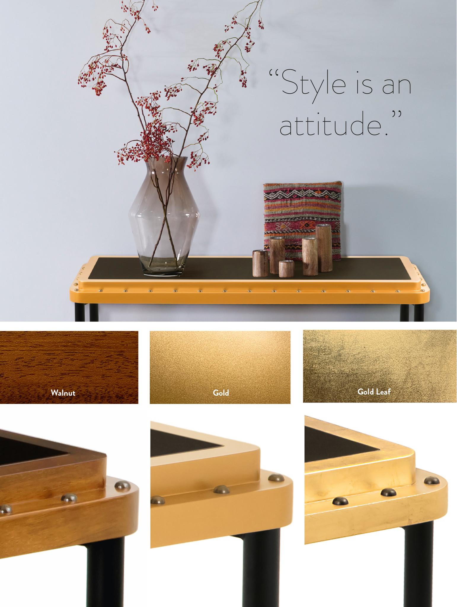 ACE Side Table S Gold Leaf-1