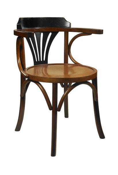 Navy Chair, Black/Honey