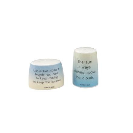 A Quality Goebel Product:  A. the Clouds/Bicycle - Salt und Pepper-4