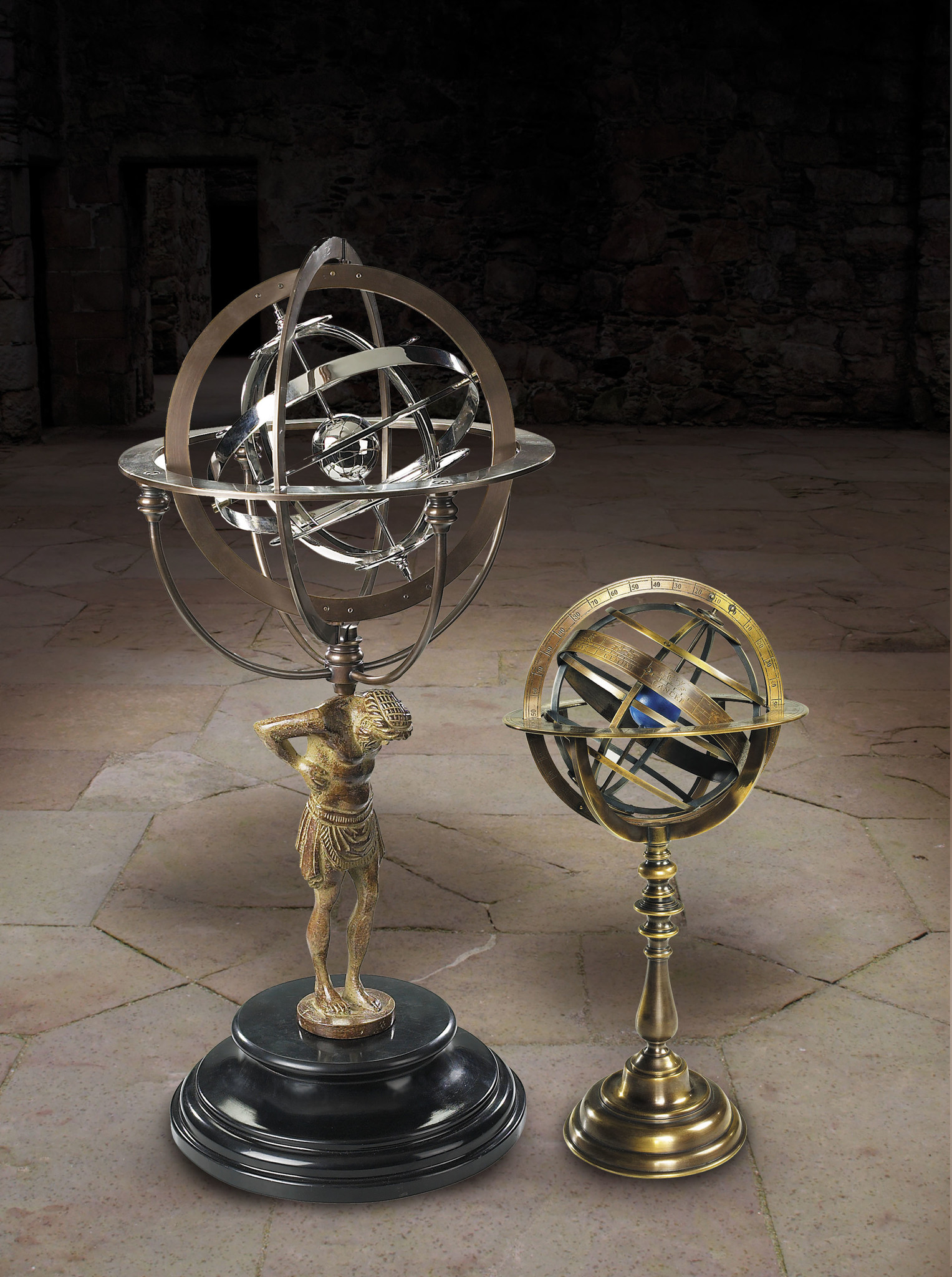 18th C. Atlas Armillary-2