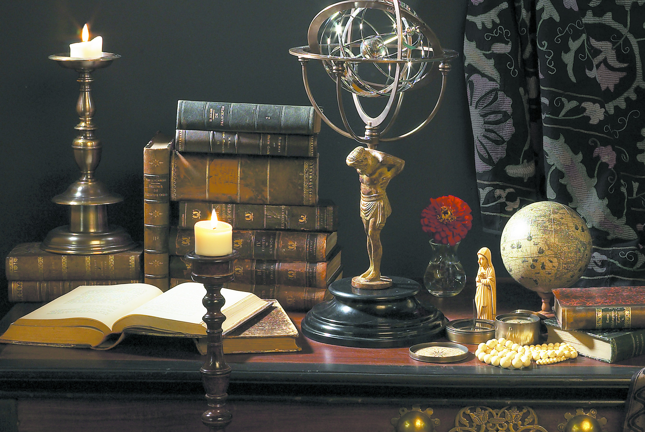 18th C. Atlas Armillary-1