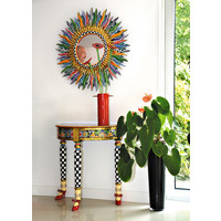 """Colourful, funny, cheerful, in all colours of the rainbow:  Console semicircular """"Versailles"""
