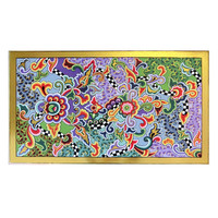 Colourful, funny, cheerful, in all colours of the rainbow:  100 x 60 x H 42 cm, Material: MDF,