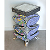Tom' s Company Colourful, funny, cheerful, in all colours of the rainbow:  114 x 33 x 79 cm , FiberGlass with a layer of marbleine