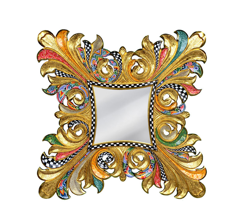 """Colourful, funny, cheerful, in all colours of the rainbow:  """"Mirror  Majestic, XXL"""""""