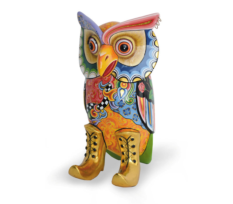 Colourful, funny, cheerful, in all colours of the rainbow:  H 98 cm, 30x30 cm, FiberGlass with a layer of marbleine