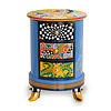Tom' s Company Colourful, funny, cheerful, in all colours of the rainbow: Drawer cabinet round, top orange