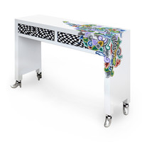 Colourful, funny, cheerful, in all colours of the rainbow:  Console table, Silver Line