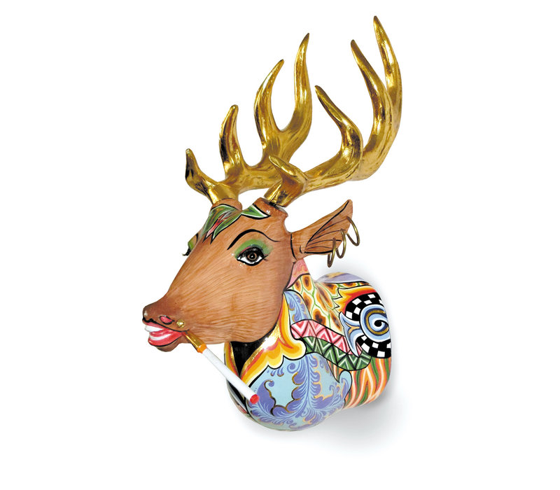Colourful, funny, cheerful, in all colours of the rainbow:  Alfred the Deer, Antlers