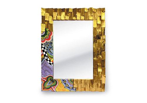 Tom' s Company Mirror, gold-plated M