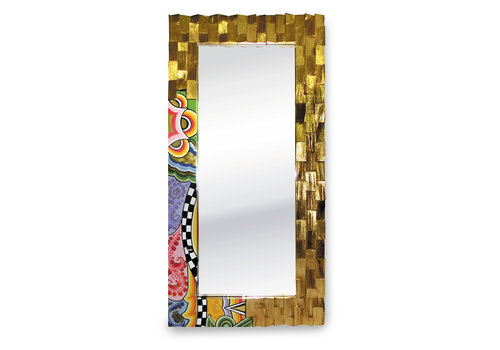 Tom' s Company Mirror, gold-plated L