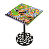 Tom' s Company Colourful, funny, cheerful, in all colours of the rainbow:  Side table quadr.S, graphic