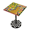 Tom' s Company Colourful, funny, cheerful, in all colours of the rainbow:  Side table quadr.S, floral gold