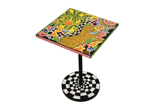 Tom' s Company Side table quadr.S, floral gold