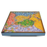 Colourful, funny, cheerful, in all colours of the rainbow:  Coffee table square, low