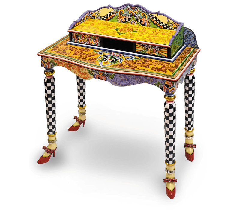 Colourful, funny, cheerful, in all colours of the rainbow:  Secretary / dressing table