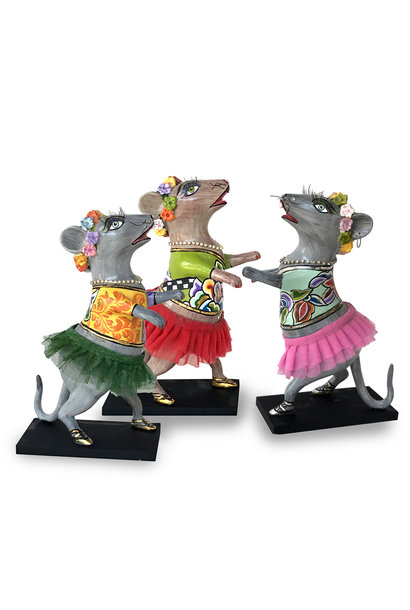"""dancing mouse """"Lissy"""",pink tutu,silver line"""