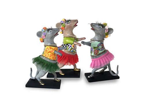 """Tom' s Company dancing mouse """"Lissy"""",pink tutu,silver line"""