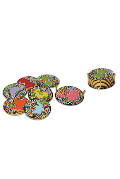 Glass coaster+ holder (7 pieces)