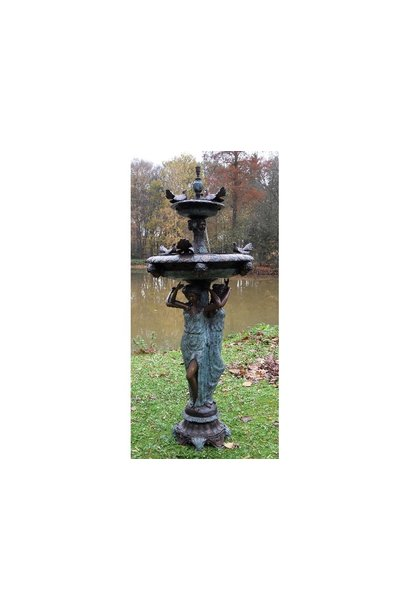 3 Women with bird fountain
