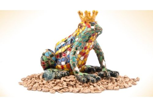 Barcino Gaudi Mosaic: Frog with Crown 2 Sizes