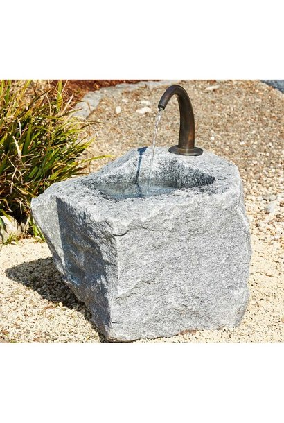 Granite trough large with water outlet