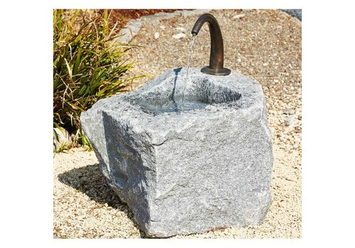 Bronze Art Granite trough large with water outlet