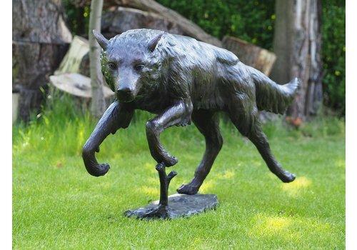 BronzArtes Rennende wolf
