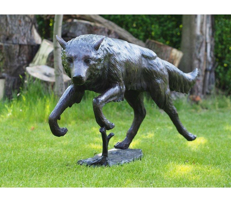 Rennende wolf