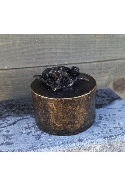 Mini urne met bloemen