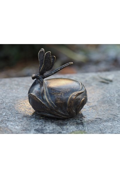 Mini urne met libelle