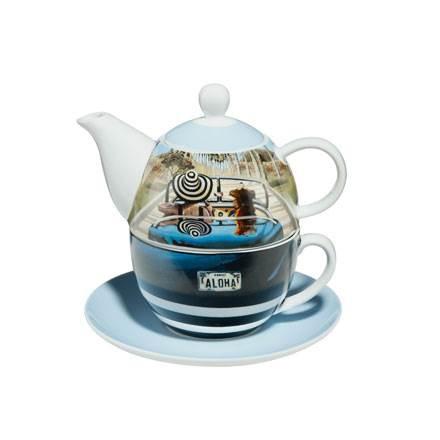 A Quality Goebel Product:  Aloha - Tea for One-3