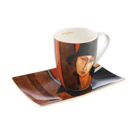 Goebel Quality:  Amedeo Modigliani Vrouw met hoed  kunstenaarsmok-3