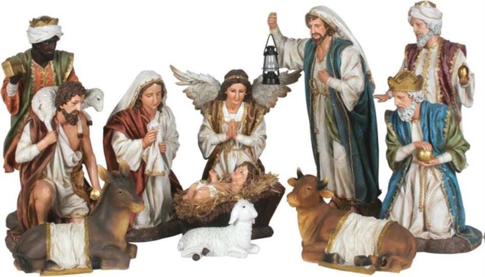 Kerststallen: Klassieke Grote Kerststal. 60 en 90 cm.-1