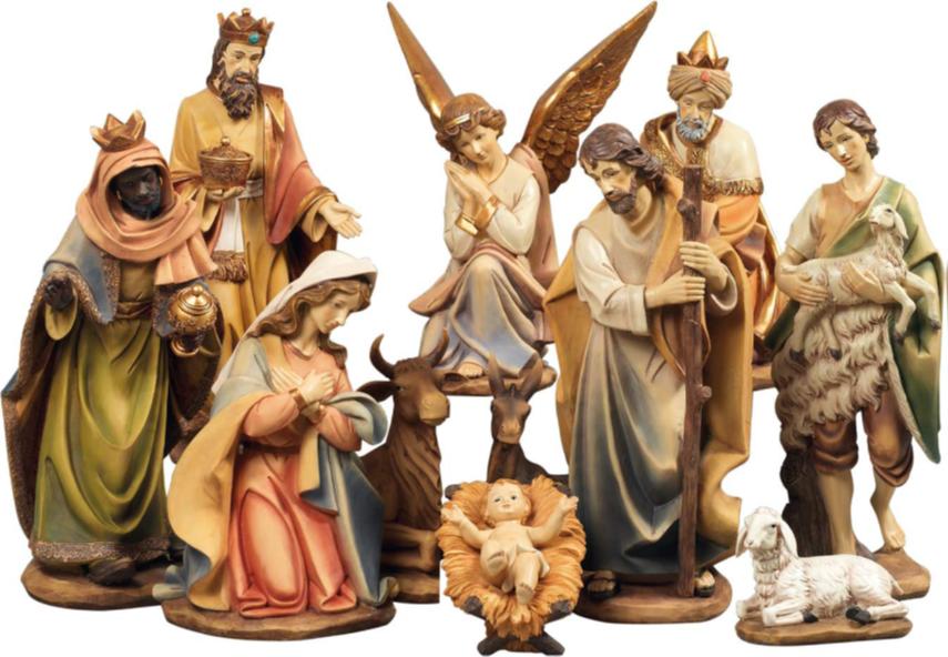 Kerststallen: Klassieke Grote Kerststal. 100 cm hoog.-2