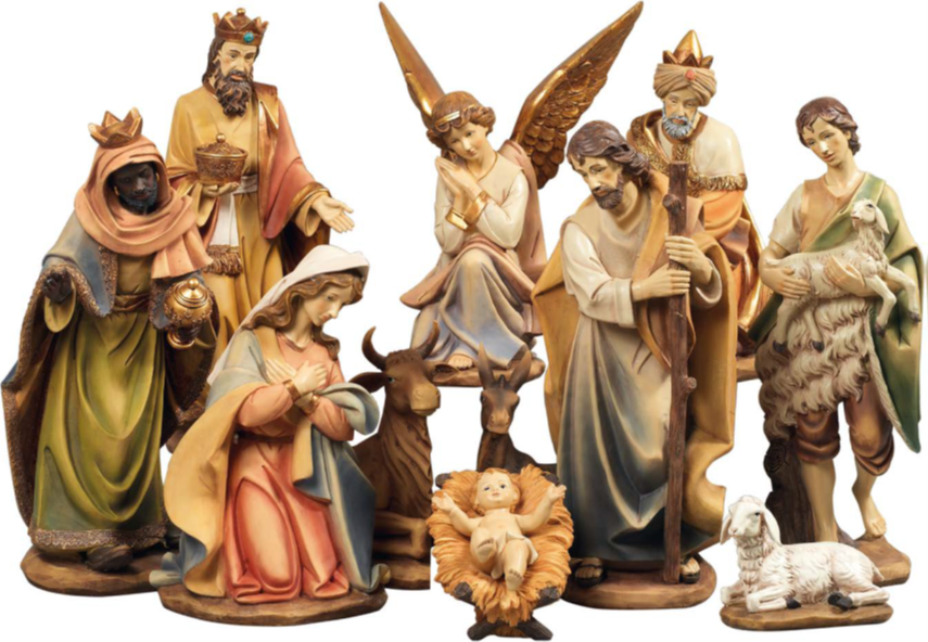 Kerststallen: Klassieke Grote Kerststal. 100 cm hoog.-1