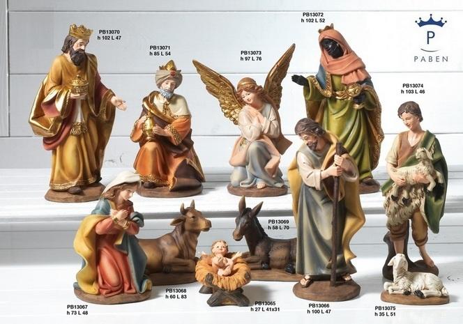 Kerststallen: Klassieke Grote Kerststal. 100 cm hoog.-3