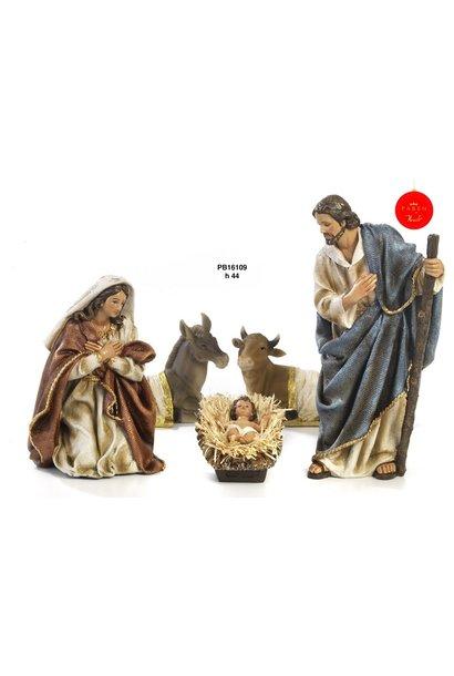Kerststal set, Maria, Jozef en kind.