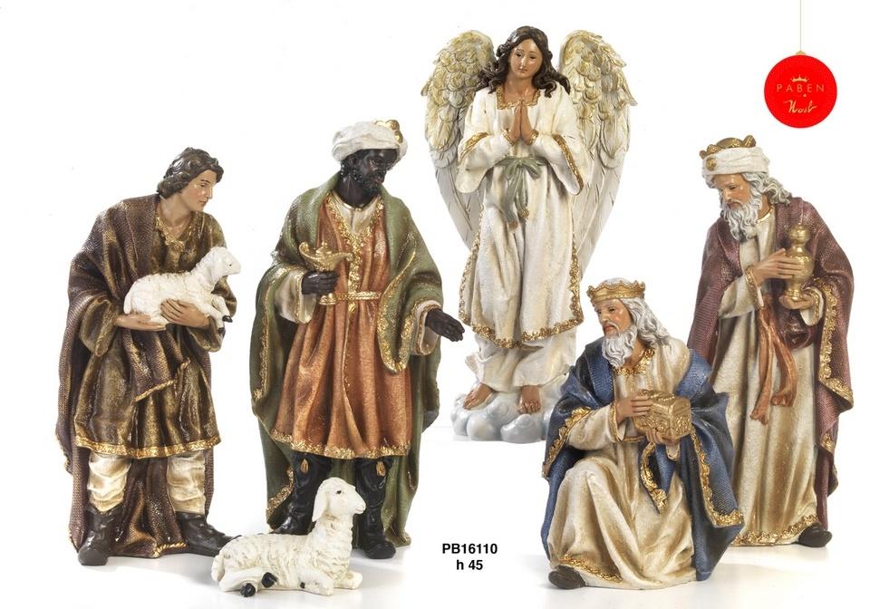 Kerststal set, Maria, Jozef en kind, os en ezel plus optioneel extra groep-2
