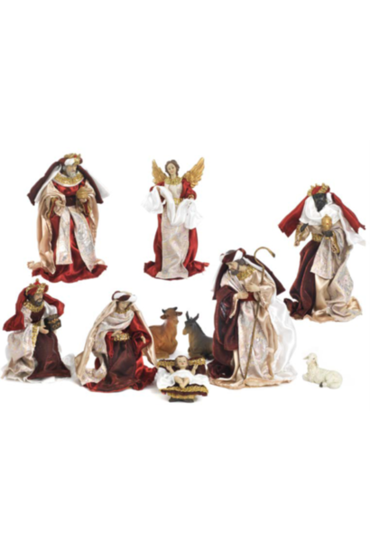 Nativity scene set, Mary, Joseph and child.