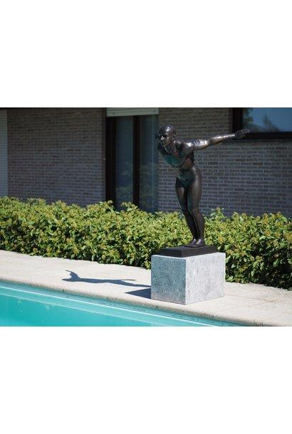 Bronzen zwemmer