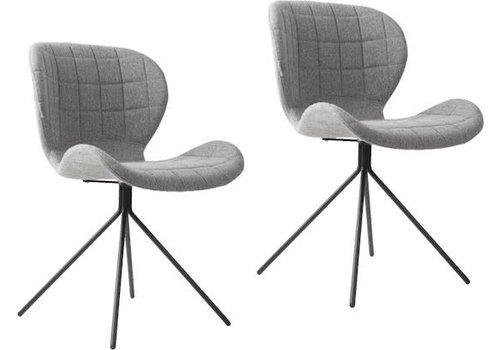 Zuiver OMG stoel (set van 2) - grijs