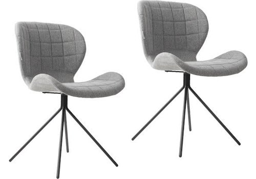 Zuiver Zuiver OMG stoel (set van 2) - grijs